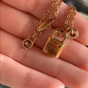 Michael Kors gold lock and key necklace